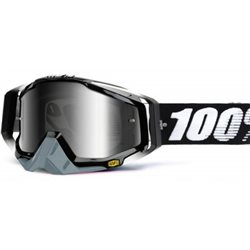 100% Racecraft Mx Goggle Abyss Black, Mirror Silver Lens