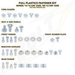 Schraubenkit für Plastikteile Honda CRF 250 10-13 450 09-12