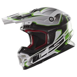 LS2 Helm MX456 Light Kompass grün