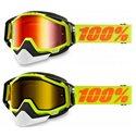 Racecraft Snow Goggle Ski / Snowboard Brille gelb / verspiegelt