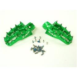 Zap Fußrasten grün Kawasaki KX 85