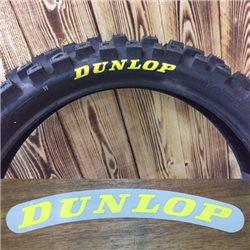 Dunlop Reifenaufkleber Logo Reifen gelb