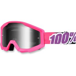 100% Strata Mx Goggle Bubble Gum, Mirror Silver Lens