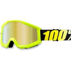 100% Strata Neon Yellow, Mirror Gold Lens