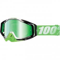 100% Racecraft Organic, Mirror Green Lens