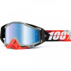 100% Racecraft Prium Red, Mirror Blue Lens