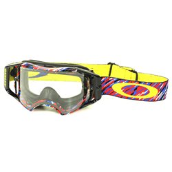 Oakley Airbrake Mx Goggle Rain Of Terror red blue yellow 7046-34