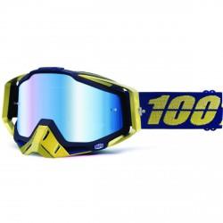 100% Racecraft Mx Goggle Renaissance, Mirror Blue Lens