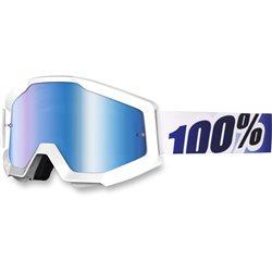 100% Strata Mx Goggle Ice Age, Mirror Blue Lens