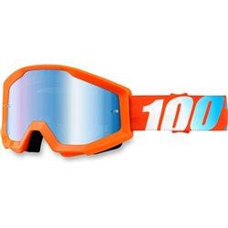 100% Strata Orange, Mirror Blue Lens