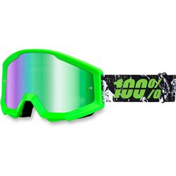 100% Strata Mx Goggle Lime, Mirror Green Lens