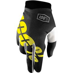 100% iTrack Glove black/neon yellow