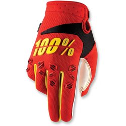 100% Airmatic Glove red yellow