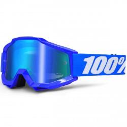 100% Accuri Mx Goggle Reflex Blue, Mirror Blue Lens