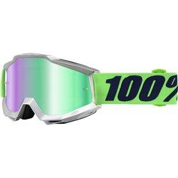 100% Accuri Mx Goggle Nova mirror green grün verspiegelt