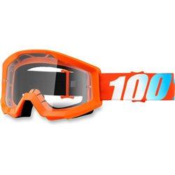 100% Strata Orange, Mirror Clear Lens