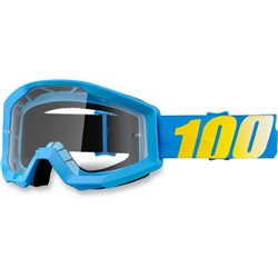 100% Strata Mx Goggle Cyan, Mirror Clear Lens