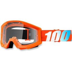 100% Strata Mx Goggle Junior Orange, Mirror Clear Lens