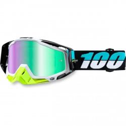 100% Racecraft Mx Goggle St Barth, Mirror Green Lens