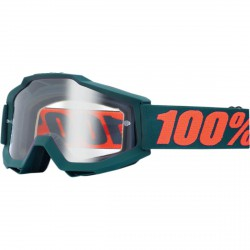 100% Accuri Gunmetal OTG, Mirror Clear Lens
