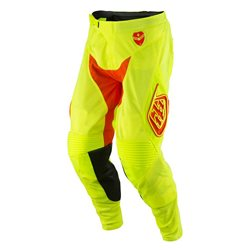 Troy Lee Designs Se Air Pant Starburst Fluo Yellow Orange Neon Gelb