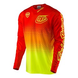 Troy Lee Designs Se Air Jersey Starburst Fluo Yellow Orange Neon Gelb