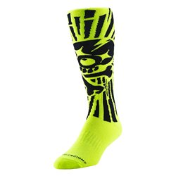 Troy Lee Designs Gp Socks Socken Skully Yellow 11-13