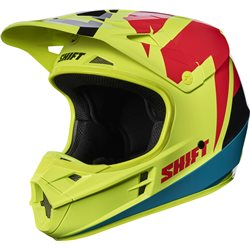 Shift Whit3 Tarmac Helmet Helm Fluo Yellow Neon Gelb
