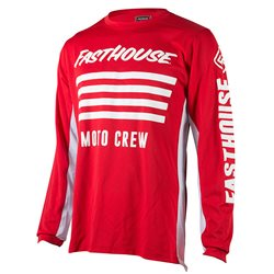 Fasthouse Stripes Jersey Red
