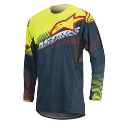 Alpinestars Techstar Factory Jersey Petrol Yellow Flou Red 2017