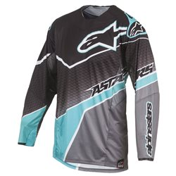 Alpinestars Techstar Venom Jersey Black Teal Dark Grey 2017
