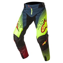 Alpinestars Techstar Factory Pants Petrol Yellow Fluo Red 2017