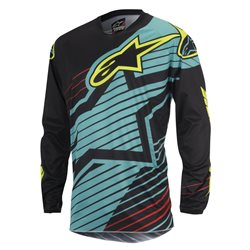 Alpinestars Racer Braap Jersey Teal Black Fluo Yellow 2017