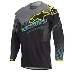 Alpinestars Techstar Factory Jersey Black Teal Fluo Yellow 2017