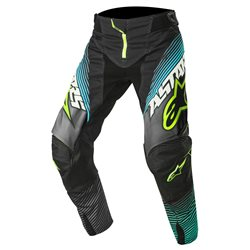 Alpinestars Techstar Factory Pants Black Teal Fluo Yellow 2017