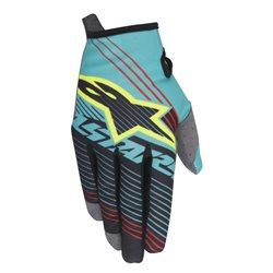 Alpinestars Radar Tracker Gloves Teal Black Fluo Yellow Handschuhe 2017