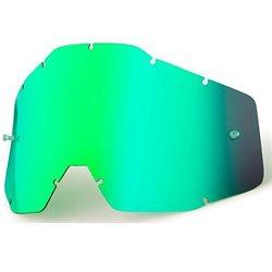 Für 100% Racecraft, Accuri, Strata Ersatzglas getönt grün green Tear Off
