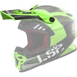 LS2 Helmschirm MX456 Peak Rallie grün schwarz