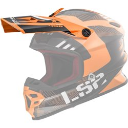 LS2 Helmschirm MX456 Peak Rallie orange schwarz