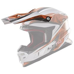 LS2 Helmschirm MX456 Peak Light Quartz weiss orange