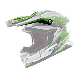 LS2 Helmschirm MX456 grün weiss Ersatzschild