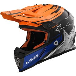 LS2 Helm MX437 Fast Core schwarz orange
