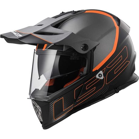 LS2 Helm MX436 Pioneer Element matt schwarz titanium