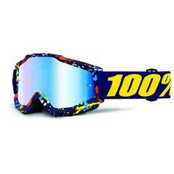 100% Accuri Mx Goggle Pollok, Mirror Blue Lens