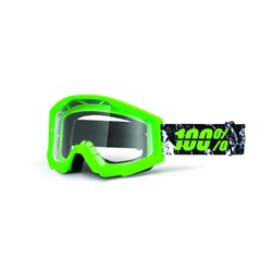 100% Strata Mx Goggle Crafty Lime, Mirror Clear Lens