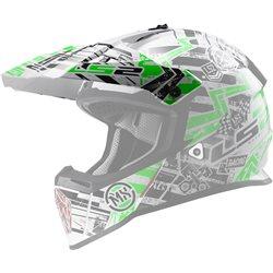 LS2 Helmschirm MX437 Glitch White Black Green Ersatzschild