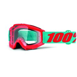 100% Accuri Mx Goggle Junior Passion Orange, Mirror Clear Lens