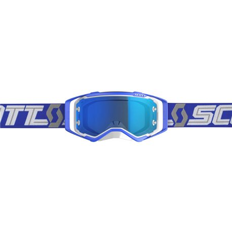 Scott Prospect White Blue - Electric Blue Chrome Works