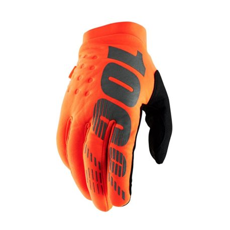 100% Brisker Neopren Handschuh Orange/Black