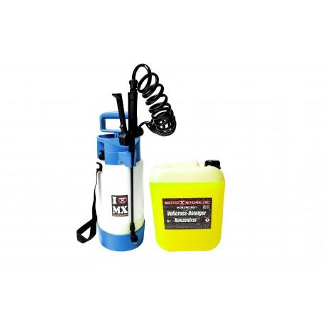 [COMBO] Schaumsrühflasche + Vollcross-Reiniger 10l Konzentrat